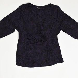 Lane bryant Plus 26/28 Purple  Blouse Polyester So